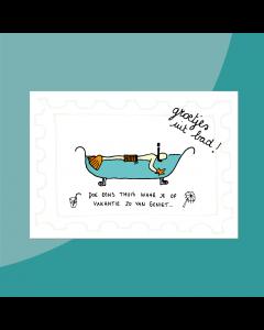 Groetjes uit Bad • Postkaart