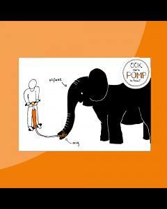 De Mug en de Olifant • Postkaart